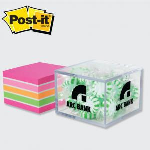 Versatile Container with Unprinted Post-it Note Cube