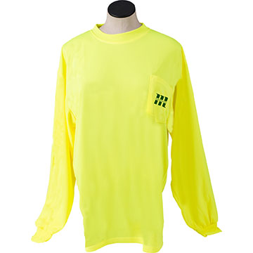 High Visibility Polyester Long Sleeve Shirt