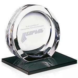 High Tech Award on Black Glass Base - Medium