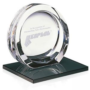 High Tech Award on Black Glass Base - Large