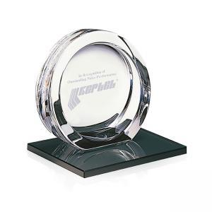 High Tech Award on Black Glass Base - Small