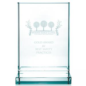 Jade Award with Jade Base - Vertical