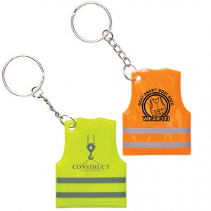 Reflective Safety Vest Key Chain