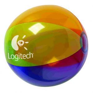 "16"" Translucent Multi-Color Round Beach Ball"