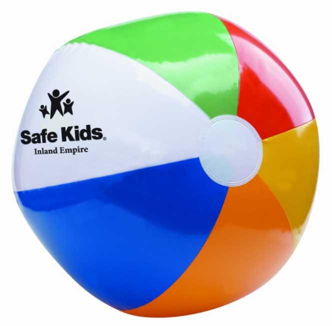"""12"""" Six Color Beach Ball"""