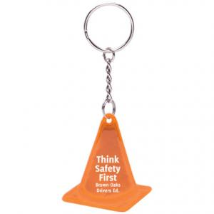 Reflective Construction Safety Cone Keychain