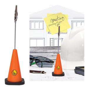 Orange Safety Cone Note Holder