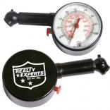 Round Analog Display Tire Gauge w/ Deflater