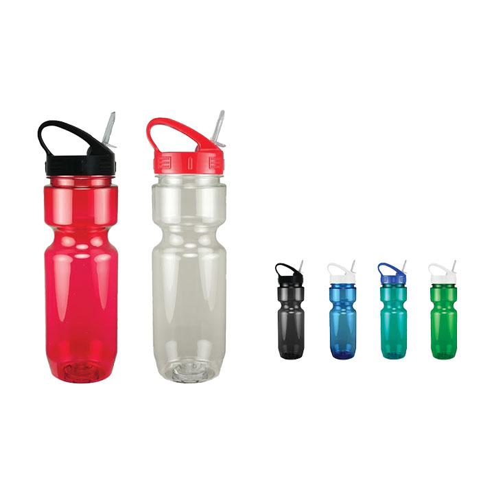 22oz Sport Sip Lid Translucent Bike Bottle