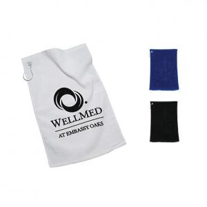 Polyester Golf Towel with Grommet Ring