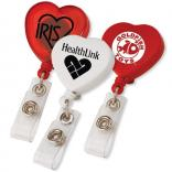 Heart Shape Retractable Badge Holder