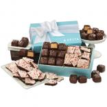 Peanut Butter Meltaways & Peppermint Bark in Robins Egg Blue Gift Box