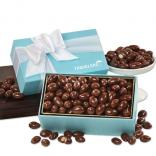 Chocolate Covered Almonds in Robins Egg Blue Gift Box