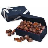 Chocolate Sea Salt Caramels & Cocoa Dusted Truffles in Magnetic Gift Box