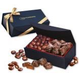 Chocolate Covered Almonds & Chocolate Sea Salt Caramels in Magnetic Gift Box