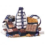 "Park Avenue"" Ultimate Tower of Treats in Navy"