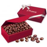 Chocolate Covered Almonds in a Red Magnetic Gift Box