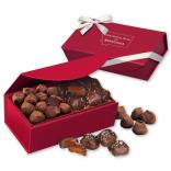 Chocolate Sea Salt Caramels & Cocoa Dusted Truffles in a Red Magnetic Gift Box