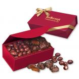 Chocolate Almonds & Chocolate Sea Salt Caramels in Magnetic Gift Box