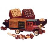 Classic Wooden 1925 Stake Truck with Chocolate Almonds & Extra Fancy Jumbo Cashews