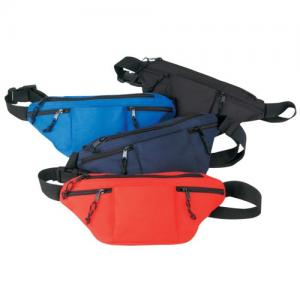 Adjustable 4- Zipper Poly Fanny Pack