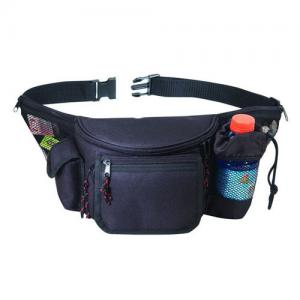 Multi-Pocket Fanny Pack w/ Bottle Holder Pocket