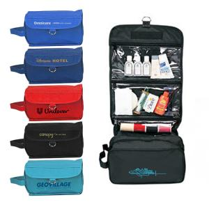 3 Clear Zipper Pockets Toiletry Bag