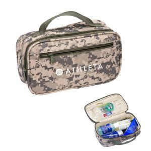 Compact Camouflage Print Toiletry Travel Bag