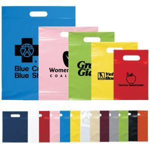 """12"""" x 15"""" x 3"""" Die Cut Plastic Trade Show Bags"""