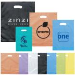 "15"" x 18"" x 4"" Die Cut Frosted Plastic Bags"