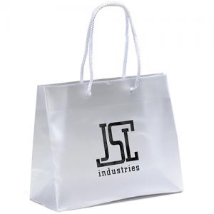 """10"""" x 4"""" x 8"""" Executive Frosted Eurotote Bags"""