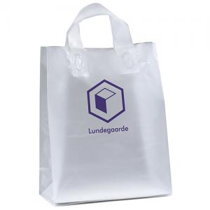 """10"""" x 5"""" x 13"""" Frosted Soft-Loop Shopping Bags"""