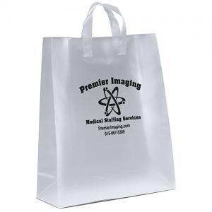 """16"""" x 6"""" x 19"""" Frosted Soft-Loop Shopping Bags"""