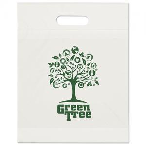 """12"""" x 15"""" Die Cut Eco Plastic Bags"""