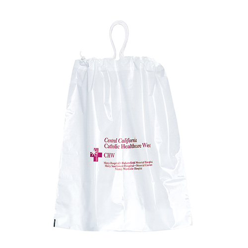 "9.5"" x 12"" Cotton Drawstring Plastic Bags"