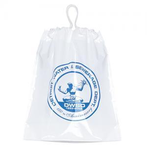 "12"" x 16"" x 4"" Cotton Drawstring Plastic Bags"