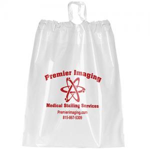 """9.5"""" x 12"""" Poly Drawstring Plastic Bags"""