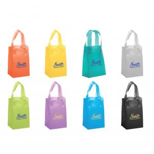 """5"""" x 3"""" x 8"""" Frosted Soft-Loop Colorific Shopping Bags"""