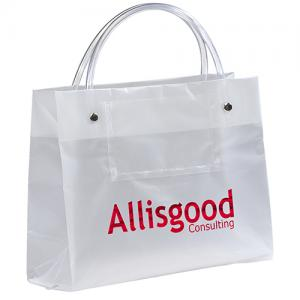 """8"""" x 3"""" x 6"""" Identity Frosted Euro Card Totes"""