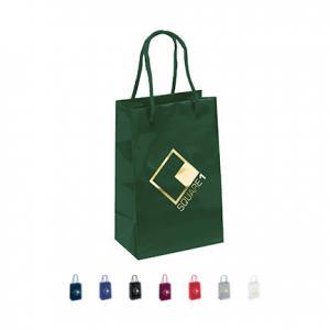 "5.25"" x 3.25"" x 8.25"" Laminated Gloss Paper Tote Bag"