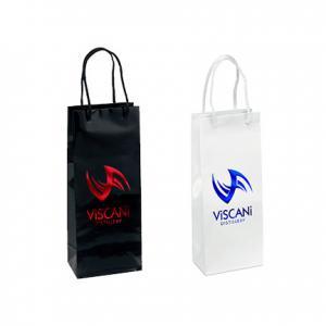 "5.25"" x 3.25"" x 13"" Laminated Gloss Paper Tote Bag"