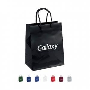 "7.75"" x 4.75"" x 9.75"" Laminated Gloss Paper Tote Bag"