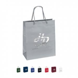 "10"" x 5"" x 12"" Laminated Gloss Paper Tote Bag"