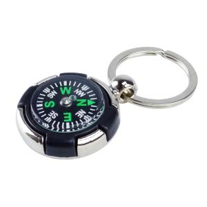 Never Lost Travel Compass Keytag