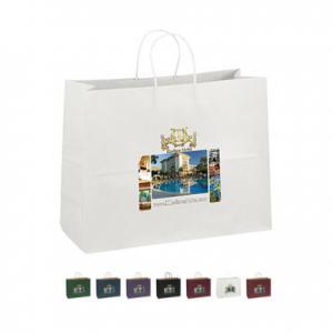 "16"" x 6"" x 12"" Kraft Matte Shopping Bags"