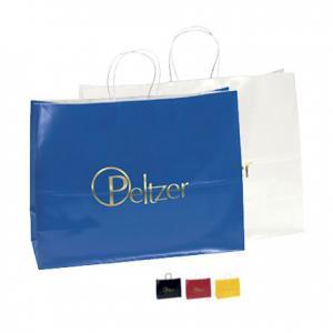"16"" x 6"" x 12"" Kraft Gloss Shopping Bags"