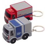 Mini Plastic Truck w/ Bright LED Headlights Keychain