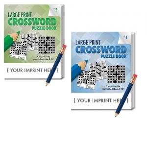 Large Print Crossword Puzzle Book w/Pencil