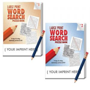 Large Print Word Search Puzzle Book w/ Pencil