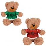 "6"" Polyester Sitting Bear w/Ugly Sweater"